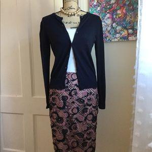 Ann Taylor Crochet Pencil Skirt 4P